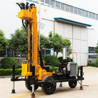 Tyre Based 380V Water Well Drilling Rig With Diesel Engine Drlling Depth 230m Borehole