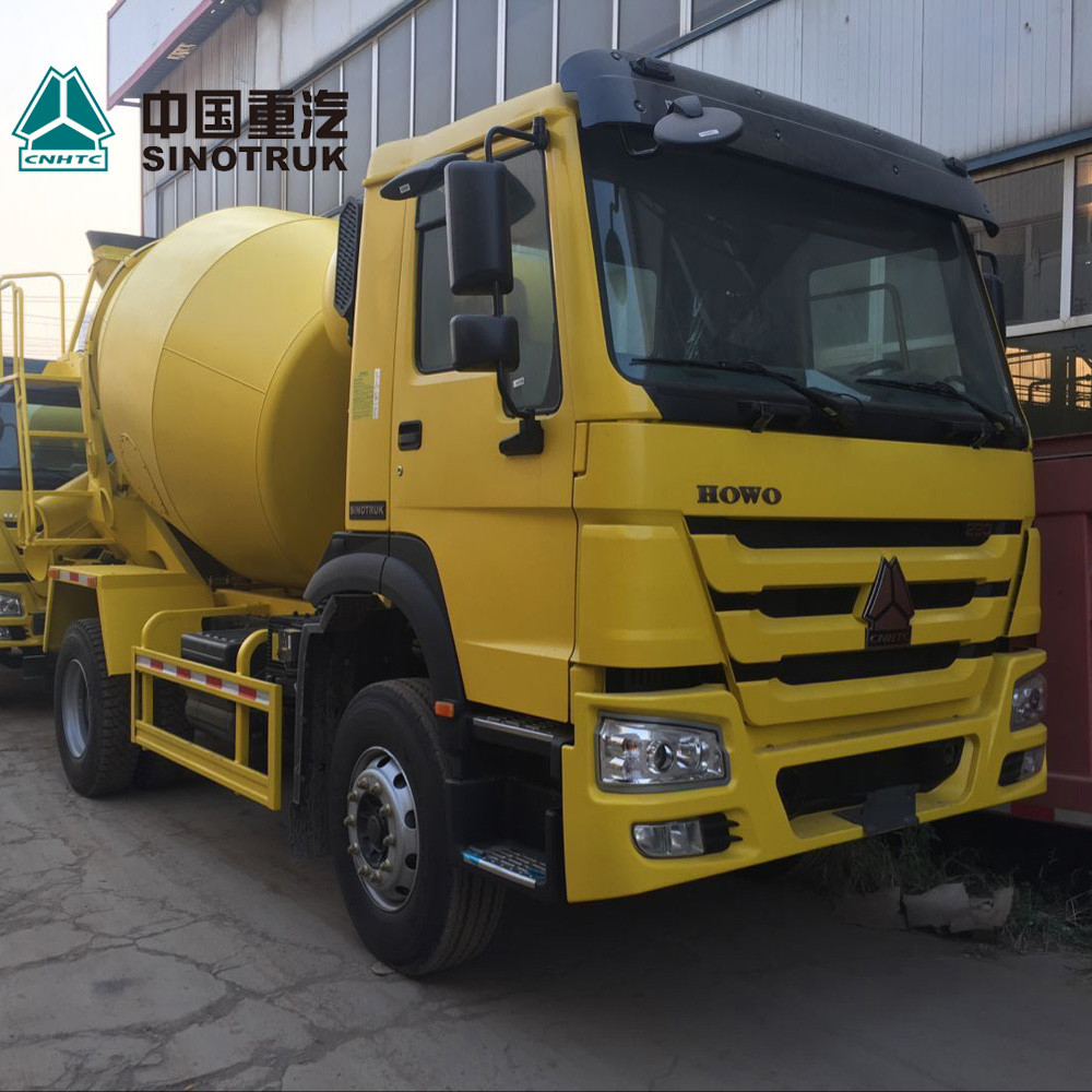 Yellow Concrete Construction Equipment 6x4 8m3 Concrete Mixer Truck With Pump Self - Loading